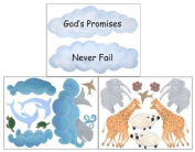 Noahs Ark Wall Stickers- Baby Nursry Wall Decals