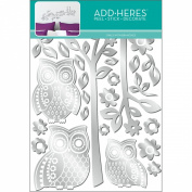 Lot 26 Studio Owls and Branches Screen Printed Mirror Wall Decals, 68.6cm by 45.7cm