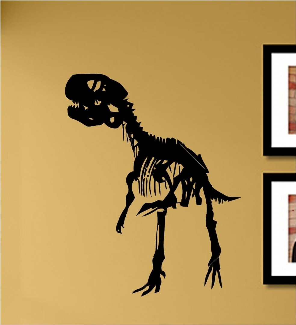 T-rex skeleton Vinyl Wall Decals Quotes Sayings Words Art Decor ...