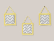Yellow and Grey Zig Zag Wall Hanging Accessories by Sweet Jojo Designs