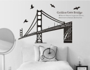 WallStickersUSA Large Golden Gate Bridge San Francisco Quote Wall Sticker Decal for Baby Nursery Kids Room Living Room