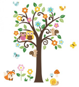 Flowers Tree & Forest Animals Giant Baby/Nursery Wall Sticker Decals