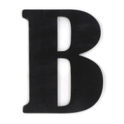 Munch Oversized Black Wood Letters, B