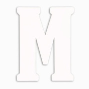 Munch Oversized White Wood Letters, M