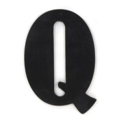 Munch Oversized Black Wood Letters, Q