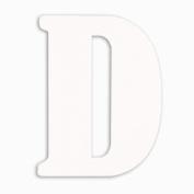 Munch Oversized White Wood Letters, D
