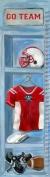 Oopsy Daisy Football Locker Growth Chart by Jones Segarra, 30.5cm by 106.7cm