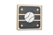 Homeworks Etc Baseball Canvas Wall Art, Black/Tan/White