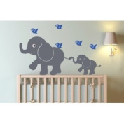 Elephants and Birds Decal