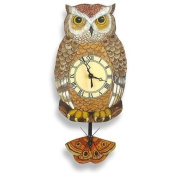Night Owl Pendulum Wall Clock