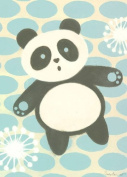 Oopsy Daisy Tai Chan Panda Stretched Canvas Wall Art by Sally Bennett, 25.4cm by 35.6cm
