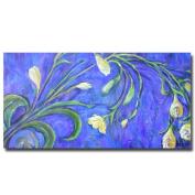 Trademark Fine Art Yellow Tulips by Wendra Canvas Wall Art, 41cm x 80cm