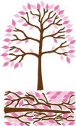 Large Tree with Pink Leaves Tree Wall Decal, Stickers, Decor