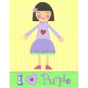 The Little Acorn Painting, I Love Purple Girl