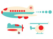 Aeroplane Jumbo Fabric Wall Decals