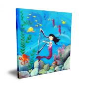 Cici Art Factory 40.6cm x 40.6cm Brunette Mermaid