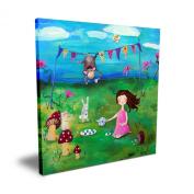 Cici Art Factory Brunette Girl Tea Party, 40.6cm x 40.6cm
