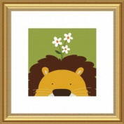 Barewalls Wall Decor, Peek-a-Boo Lion