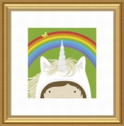 Barewalls Wall Decor by Yuko Lau, Peek A Boo Unicorn