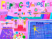 Oopsy Daisy Flipping for Gymnastics Stretched Canvas Wall Art by Jill McDonald, 61cm by 45.7cm