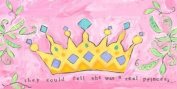 Oopsy Daisy Princess Crown Stretched Canvas Wall Art by Stephanie Bauer, 91.4cm by 45.7cm