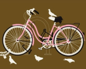 Wheatpaste Art Collective Girl Bike Stretched Canvas Wall Art by Methane Studios, 76.2cm by 61cm