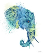 Wheatpaste Art Collective Elephant Head Stretched Canvas Wall Art by Rachel Caldwell, 61cm by 76.2cm