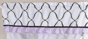 Purple, Black and White Princess Girls Window Valance by Sweet Jojo Designs