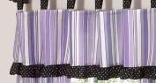 Purple and Black Kaylee Window Valance by Sweet Jojo Designs