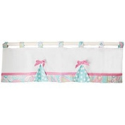 Pixie Baby Curtain Valance in Aqua by My Baby Sam