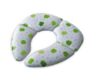 Mommys Helper Cushie Traveller Folding Padded Potty Seat with Carry Bag, White with Frog Design