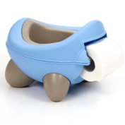 Baby Bug Potty Blue Grey- built in toilet roll holder
