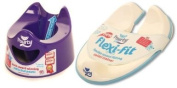 Pourty PURPLE Potty & Flexi Fit Toilet Trainer Brand new dispatched from UK