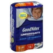 Good Nites Underwear for Boys Small/Medium