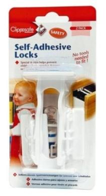 Clippasafe Self-Adhesive Locks (2-Pack)