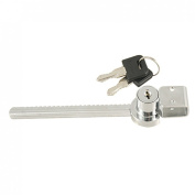 Amico Sliding Blade Saw Lock w Keys for Glass Showcase Door