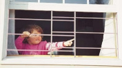 John Sterling 3 Bar Fixed Window Guard 15X23-106.7cm WHITE