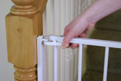 Regalo Extra Tall Top-of-Stairs Gate - White