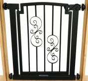 Noblesse Dog Gate - 81.3cm tall x 71.1cm -86.4cm wide - Black