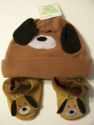 Infant Animal Hat and Booties Set ~ Puppy