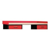 Fort Knox Side and Back Rail Kit in Red (textured) Size