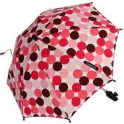 ShadyBaby Pink-Brown Polka Dots Stroller Parasol, SPF 50+ Stroller Umbrella - 61cm Diameter