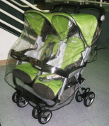 Sasha's Kiddie Products Peg Perego Aria Twin, and Aria Twin 60/40 Twin Side by Side Stroller Rain and Wind Cover
