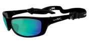 Wiley X Eyewear Active Series Polarised Sunglasses - P-17GM - Gloss Black/Blue Mirror