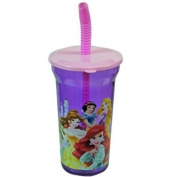 New Disney Princess Sports Tumbler 410ml Water Bottle with Lid and Straw by Disney - Wonders Shop USA
