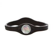 Power Balance Bracelet Black/White Letters size