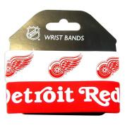 NHL Detroit Redwings Silicone Rubber Bracelet Set, 2-Pack