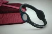 Power Balance Bracelet Wristband Black w/ White Lettering Size Small