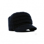 Square Rib knitted short visor Beanie