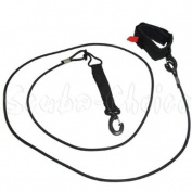 Surfing Surfboard 3.4m SUP Ankle Paddle Leash Cord w/ Neoprene Cuff & Clip